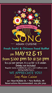 Chinese Buffet Hours by Song Asian Cuisine Home New Buffalo Michigan Menu Prices