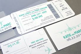 ticket wedding invitations boarding pass wedding invitations plane ticket invite set aqua