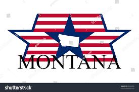 Montana State Flag Montana State Map Flag Name Stock Vector 95645695 Shutterstock