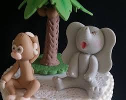 Jungle Safari Animal Cake Topper Monkey Jungle Cake Topper