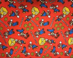 mario wrapping paper nintendo pillow etsy