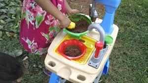 Toy Kitchen Set For Boys Little Tikes Toys Makin Mud Pies Kitchen Set Toy Review Youtube