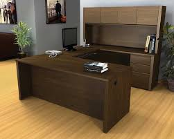 wood office desk with hutch perfect home office model or other