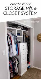 build a closet system part 2 twofeetfirst