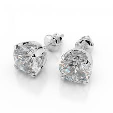 white gold studs diamond stud earrings classic 1 2 carat 0 40ct cut