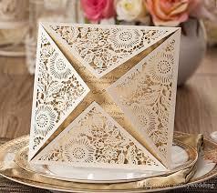 wedding invitations laser cut laser cut wedding invitations gold blank inner sheet wedding