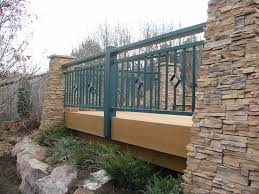 strong metal deck railing ideas for modern outdoor design