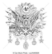 Ottoman Emblem Illustration Of The Ottoman Empire Coat Of Arms Vector
