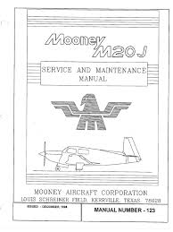 mooney service manuel m20j vol 1 of 2 pdf aircraft flight