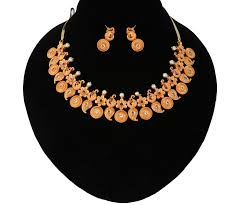 gold stones necklace images 1 gram gold indian jewelry mango gold necklace floral design jpg