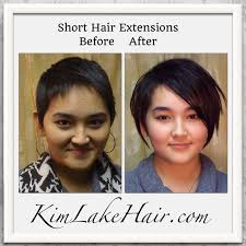 extensions on very very short hair kim lake hair extension salon custom blends hair extensions