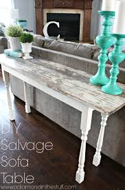 Sofa Table Diy Salvage Sofa Table A Diamond In The Stuff Diy Furniture
