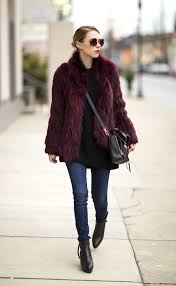 20 ways to look cool in colored fur black ankle boots fur coat
