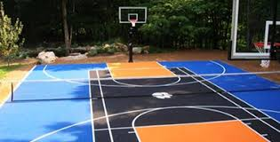 Backyard Basketball Hoops by Basketball Backyard Courts Contractors In Houston Sport Flooring