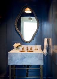 Dark Blue Powder Room East Norwich U2014 Kristen Panitch Interiors