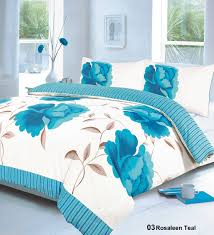 teal printed bedding king size duvet quilt cover bed set amazon