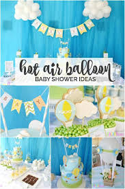 hot air balloon decorations boy s hot air balloon party theme spaceships and laser beams
