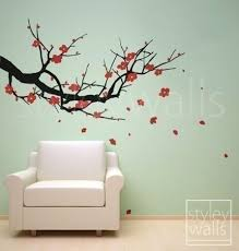 cherry blossom tree vinyl wall decal sticker