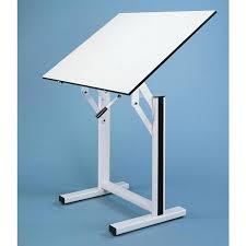 Alvin Elite Drafting Table Alvin Ensign Pedestal Adjustable Drafting Table Walmart