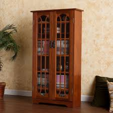 amazon com window pane media cabinet oak kitchen u0026 dining