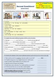 second conditional exercises esl worksheets of the day