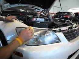 lexus is300 headlight assembly how to repair hazy plastic headlights lexus is 300 headlight