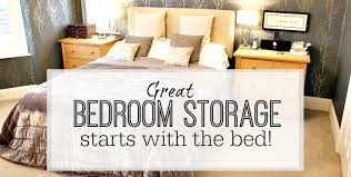 great bedroom storage starts with a storage bed tips