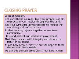 session 5 closing prayer