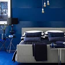 how about navy blue bedroom hmm so calm and masculine