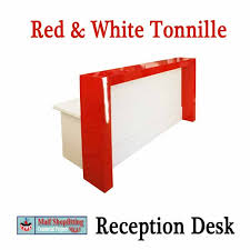 White Reception Desk Red And White Gloss Reception Counter Or Desk
