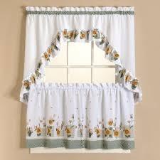 Walmart Kitchen Curtains Valances by Kitchen Sunflower Tier Walmart Kitchen Curtains For Kitchen