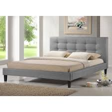 baxton studio quincy linen platform bed reviews home best