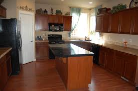 Kitchen Cabinets With Island Furniture Inspiring Black Granite Top Kitchen Island With L