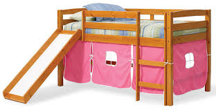 Bed Fort Pipkin U0027s Pink Twin Playhouse Fort Loft Bed