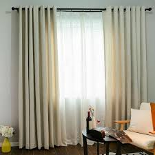 Blackout Curtains For Bedroom Funique White Striped Chenille Blackout Curtains Living