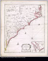 Map Of Carolinas A New Map Of Carolina By Philip Lea Jcb Map Collection