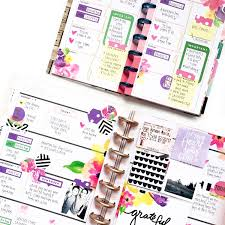 Journal Decorating Ideas by Horizontal Happy Planning W Floral Stickers U0026 A Mini To Match