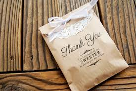 wedding treat bags favor bags wedding favor kraft bags thank you message add a