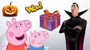 kids halloween party clipart peppa pig george and count dracula halloween party kids