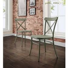 Cross Back Dining Chairs Industrial Modern Rustic Cross Back Dining Chair Set Of 2