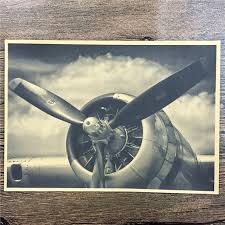 direct selling home decor direct selling rza 263 vintage kraft paper propeller aircraft home