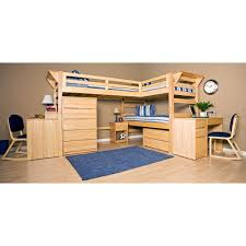 Pictures Of Bunk Beds With Desk Underneath Graduate Triple Lindy Twin Xl Loft Bed With Third Bed College