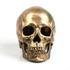 Bronze Home Decor Bronze Human Skull Resin Craft Home Decor Imitation Skull Free