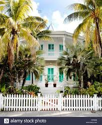key west florida usa a stately white and teal two story house