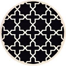 black 6 u0027 x 6 u0027 trellis round rug area rugs esalerugs