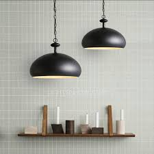 Metal Shade Pendant Light Best Metal Shade Semicircle Black Pendant Lighting For Kitchen