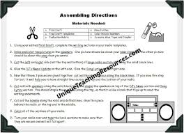 radio book report project templates worksheets grading rubric