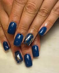 25 dark blue nail art designs ideas design trends premium