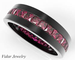 black ruby rings images Rubies wedding ring for him in 14k 18k black gold vidar jewelry png