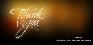 happy thanksgiving thank you from microsoft all in one script
